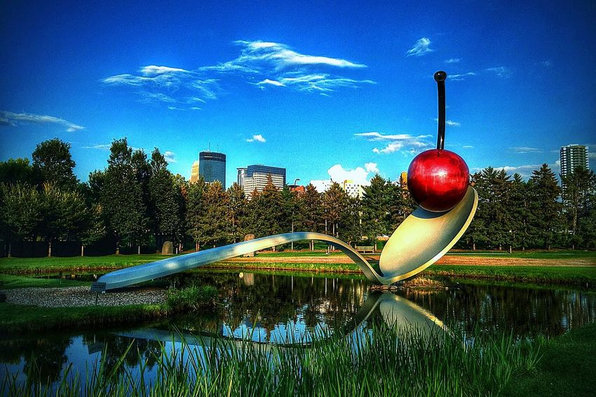 Minneapolis Sculpture Garden Urbanphotography Urban Landscape Urban Photography Loring Park DowntownMPLS Hennepin Ave Minneapolis Spoonbridge And Cherry Fountain Cityscapes