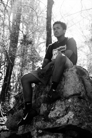 Balance Black And White Boy Carefree Casual Clothing Childhood Deep Thought Front View Full Length Happiness Leisure Activity Lifestyles Person Pondering Real People Relaxation Sitting Teenager Three Quarter Length Young Adult Young Man The Portraitist - 2016 EyeEm Awards The Great Outdoors - 2016 EyeEm Awards This Is Masculinity Inner Power