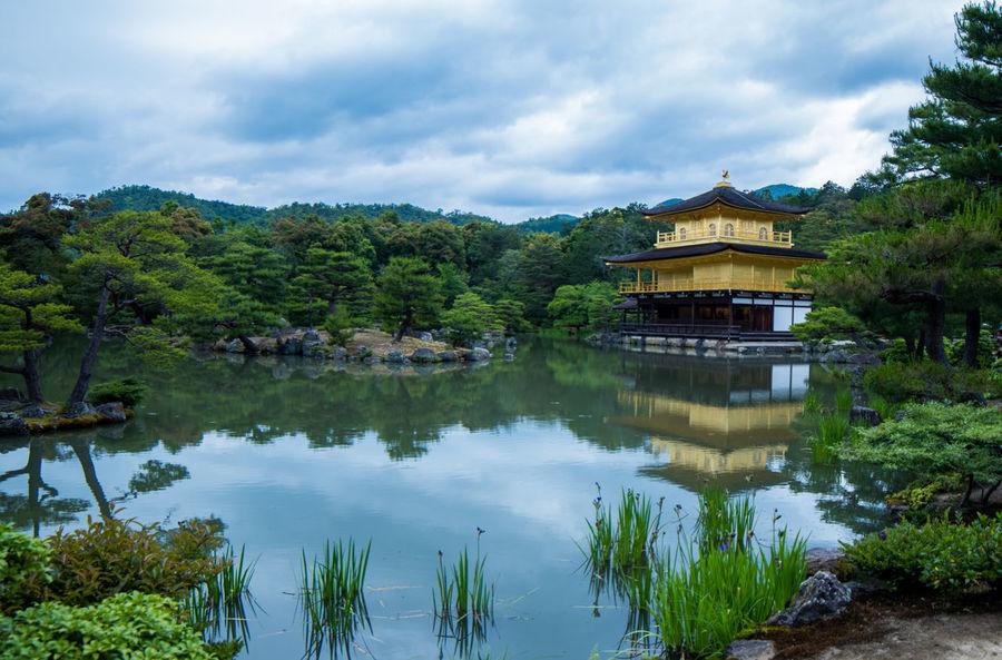 Kinkaku-Ji in Kyoto Architecture Beauty In Nature Color Palette Color Palette Colour Of Life Japan Kinkakuji Kyoto Lake Landscape Nature Pond Reflection Reflection Shrine Shrine Of Japan Temple Tranquil Scene Travel Destinations