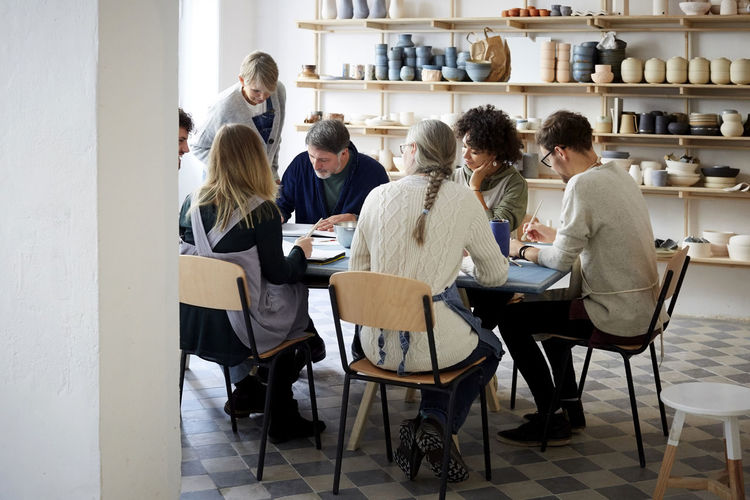 Group of people sitting at table