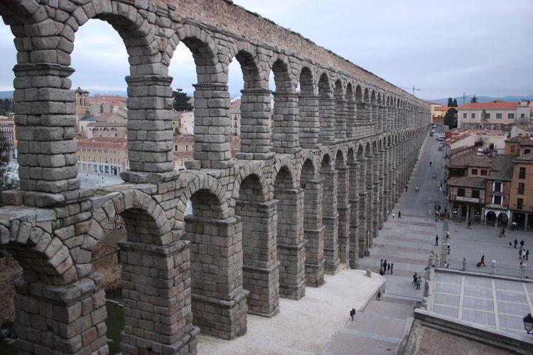 Aqueduct in city