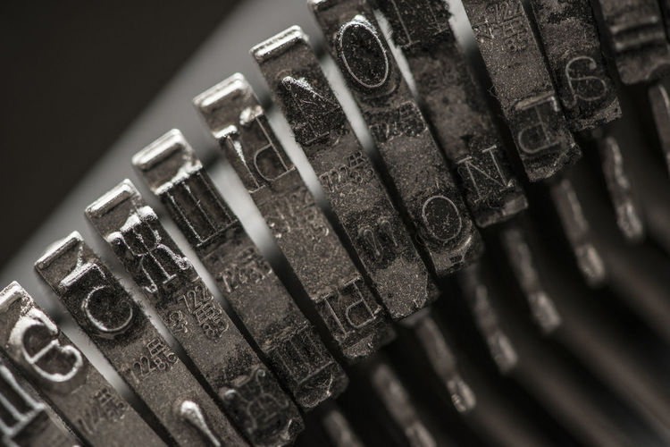 Print Printing Cliche Word Letter Metal Typewriter Macro Close Up Technology Communication Close-up Connection No People Indoors  Old Business Internet In A Row Number Cable Computer Network Finance Single Object Equipment Studio Shot Antique Global Communications