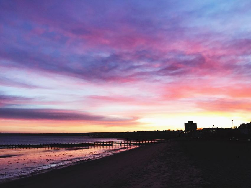 Sunset #sun #clouds #skylovers #sky #nature #beautifulinnature #naturalbeauty #photography #landscape EyeEm Best Shots Beachphotography Portobello Beach, Edinburgh Sunrise_Collection The Week On EyeEm