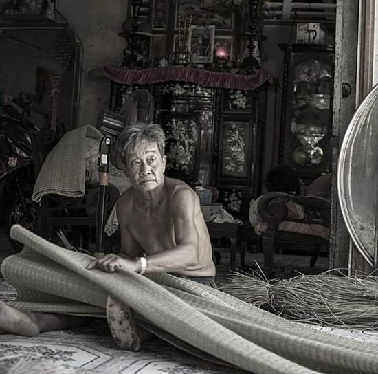 Senior Adult One Woman Only Only Women Senior Women Serene People One Senior Woman Only Adults Only Sitting Adult Women People One Person Portrait Retirement Wisdom Indoors  Day vietnam b&w