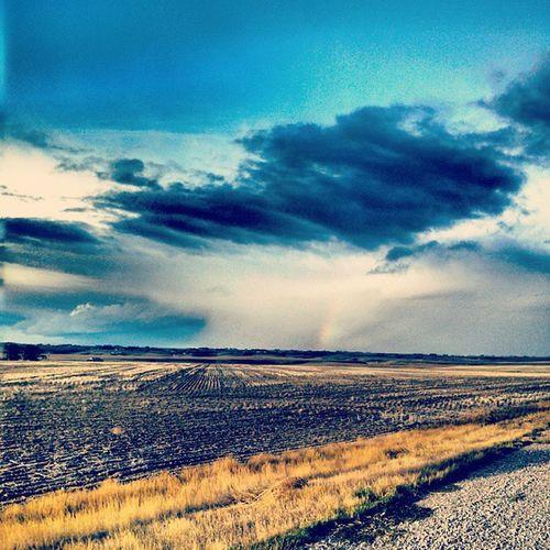 Storm Rainbow Montana Backroads
