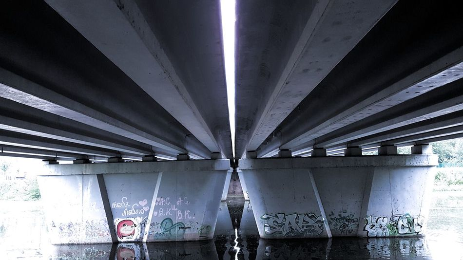 Bridge - Man Made Structure Architectural Column Girder Illuminated Architecture Built Structure #urbanana: The Urban Playground