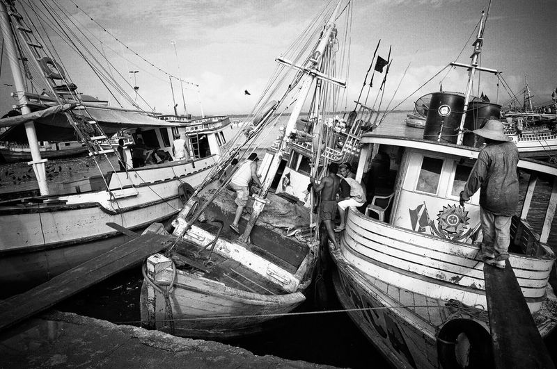Ver-o-peso Market Boat Day Harbor Mode Of Transport Nature Nautical Vessel Outdoors Sky The Street Photographer - 2017 EyeEm Awards Transportation