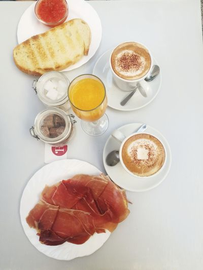 Breakfast EyeEm Selects Drink Frothy Drink Coffee - Drink High Angle View Table Directly Above White Background Sweet Food Close-up Food And Drink Temptation Sugar Served Latte Sugar Cube Cappuccino Froth Art Exploring Fun The Foodie - 2019 EyeEm Awards The Mobile Photographer - 2019 EyeEm Awards