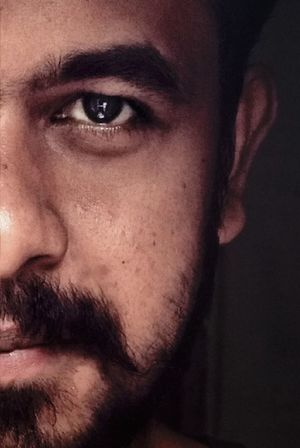 Self potrait.. Self Portrait Portrait Looking At Camera Close-up Beard India Kerala 👽👽 👽 Nature Art Is Everywhere