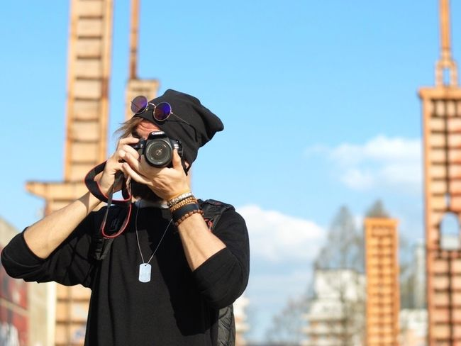 Photographer. NevermindRecords Parco Dora Torino Turin Italy Sky Streetphotography Street Art Street