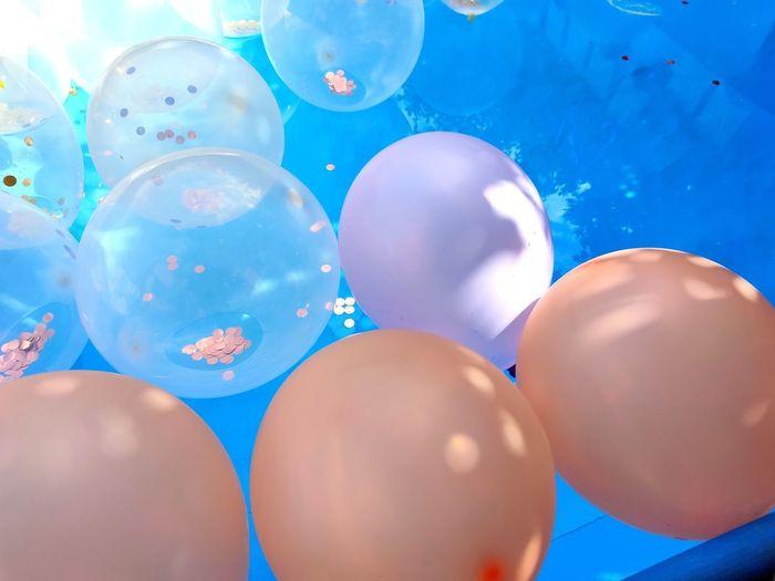 Full frame shot of balloons