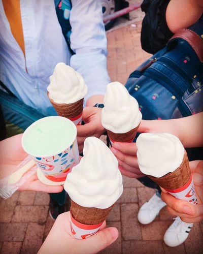 Sweet Sweet Food Real People Dessert Indulgence Ice Cream High Angle View Togetherness Food And Drink Frozen Food Frozen Food Women EyeEmNewHere