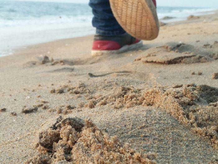 walk on the shores Sea Shore Walk Sand Shoe Water Sole Shoe Sole FootPrint Sea Water