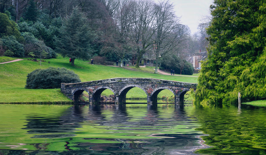 Stourhead NT Tree Water Nature Plant Waterfront No People Arch Day Tranquility Reflection Bridge Scenics - Nature Lake Architecture Green Color Beauty In Nature Bridge - Man Made Structure Built Structure Outdoors Arch Bridge