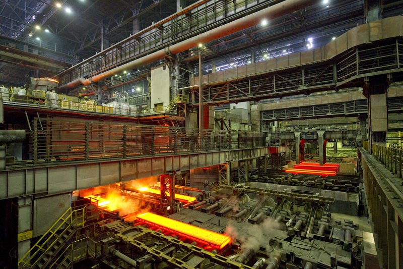 Continuous Casting Plant At Steel Mill