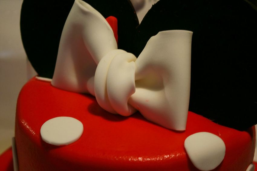 Celebration Happybday Cake Decorating Desain Mikey Mouse Red Colors
