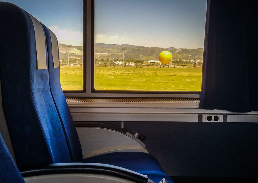 Train ride from LA to San Diego (April 2017)Let's Go. Together. Transportation Window Car Vehicle Seat No People Indoors  Mountain Sky Day Hot Air Balloon Train View From Train Window California Scenics Travel Surfliner Pacific Surfliner EyeEm Selects