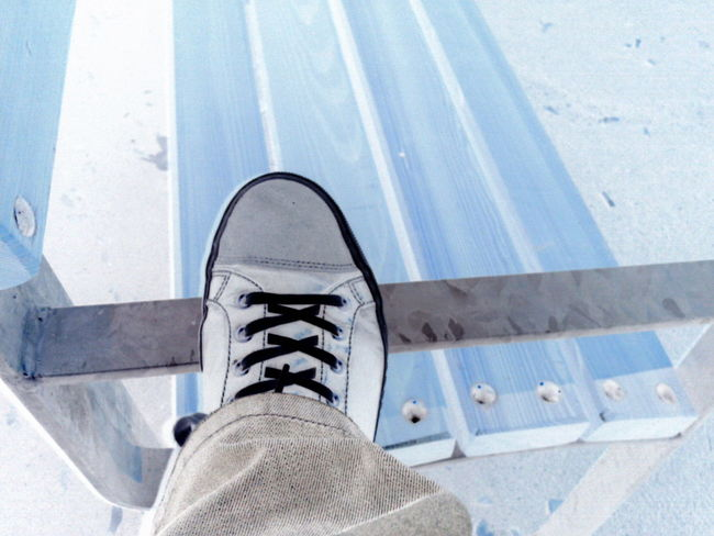 Footwear Negative Part Of Personal Perspective Shoe