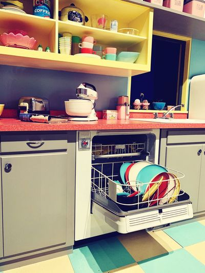 Kitchen Domestic Kitchen Shelf Indoors  No People Domestic Room Home Household Equipment Cup Appliance Drawer Home Interior Arrangement