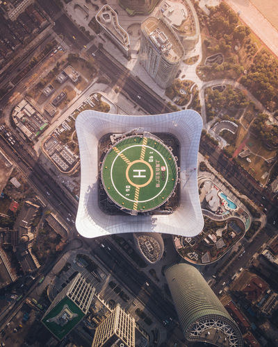 launch pad. Aerial Aerial View Aerial Shot Aerial Photography Drone  Sunrise Sunrise_sunsets_aroundworld China Helipad Helicopter Helicopter View  High Angle View Close-up