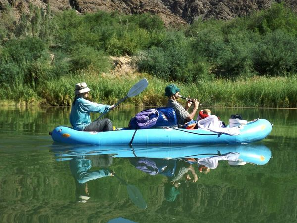 Orange River, Namibia. Water Outdoors Nature Leisure Activity Reflection Kayak River Orange River Namibia Connected By Travel