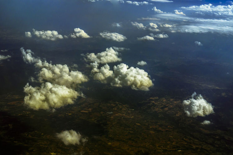 Cloud - Sky Beauty In Nature Sky Nature No People Scenics - Nature Day Aerial View Outdoors Airplane Airline Trip Journey Holiday Tranquility Tranquil Scene Sea Water Environment Idyllic High Angle View Land Non-urban Scene Cloudscape
