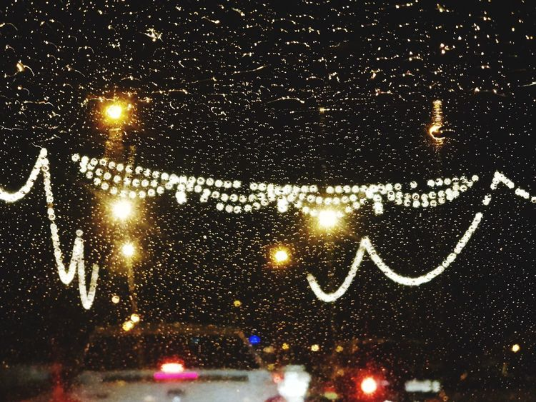 Rainy Days Rain Drops Illuminated No People Outdoors Backgrounds Sky Nature Close-up