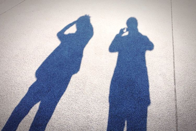 Friendship.  Light And Shadow Sunshine ☀ Sunny Day Walking Around Park Ground Setagaya Tokyo, Japan