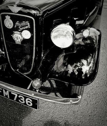 Vintage Austin car Engineering Car Vintage Radiator Grille No People Journey Variation Transportation Vintage Car Radiator