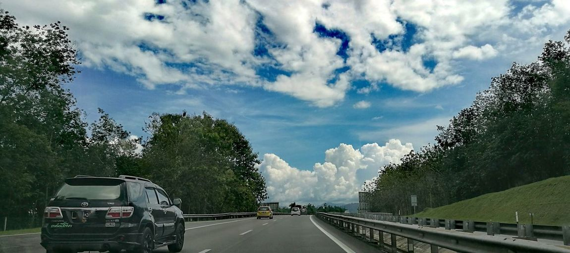 Transportation Mode Of Transport Cloud - Sky Sky Tree Land Vehicle Car Road No People Outdoors Day Nature Cloudlovers Coming Home Journey Of Life Ipoh Muslimtraveler