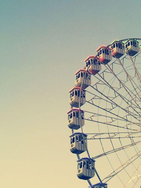 Sky Amusement Park Leisure Activity Outdoors Day Portugal Lisbon HuaweiP9 Clear Sky Wheel Wonderland