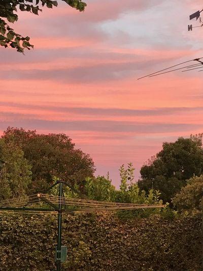 Sunset And Clouds  HillsHoist Aussie Backyard