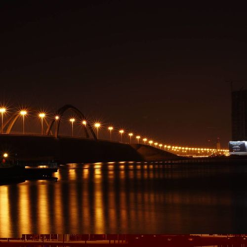 Bridge Illuminated Night Bridge - Man Made Structure Architecture Built Structure Outdoors Water
