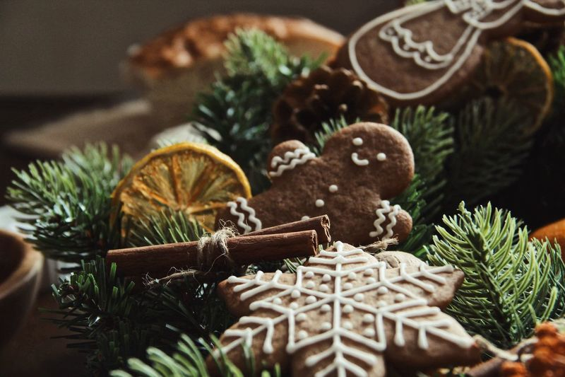 Gingerbread cookies Gingerbread Cookie Holiday Indoors  Christmas Tree Decoration No People Celebration Holiday - Event Table Food And Drink Still Life Baked Christmas Ornament Art And Craft Creativity christmas tree Close-up Food Christmas Decoration Plant