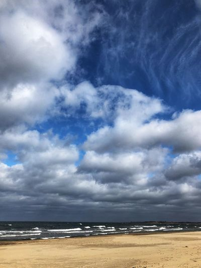 Sky Cloud - Sky Sea Water Beach Scenics - Nature Land Beauty In Nature Horizon Over Water Horizon Nature Tranquil Scene Tranquility Day No People Outdoors Sand Blue Dangerous Weather Bad Bad Condition Clouds And Sky Waves Ocean Nature Storm Cloud White Backgrounds Wallpaper