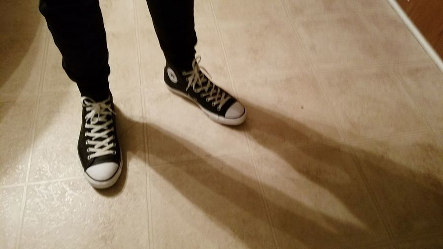 Legs & Shoes & Shadow EyeEm Selects Shadow Out Of The Box Shoe Shoes Converse Chucks Blackconverse Teen Teenager Fashion One Man Only