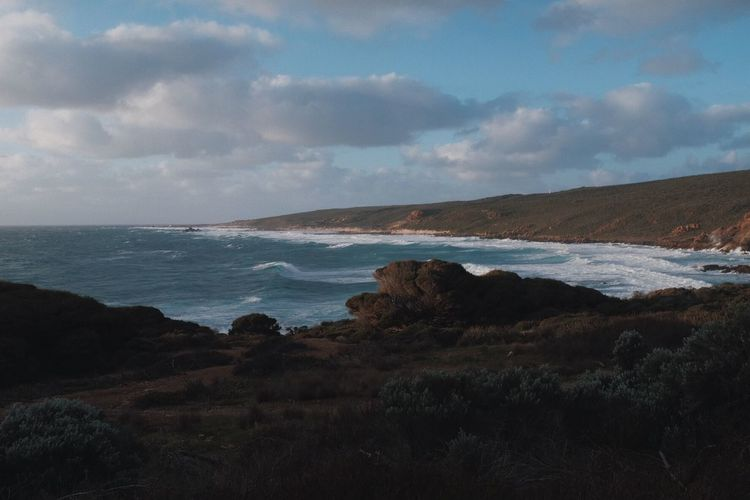 Windy evening at Cape Naturaliste. Cape Naturaliste Western Australia Sea Water Scenics - Nature Land Beauty In Nature Beach Sky Landscape Horizon Over Water Horizon