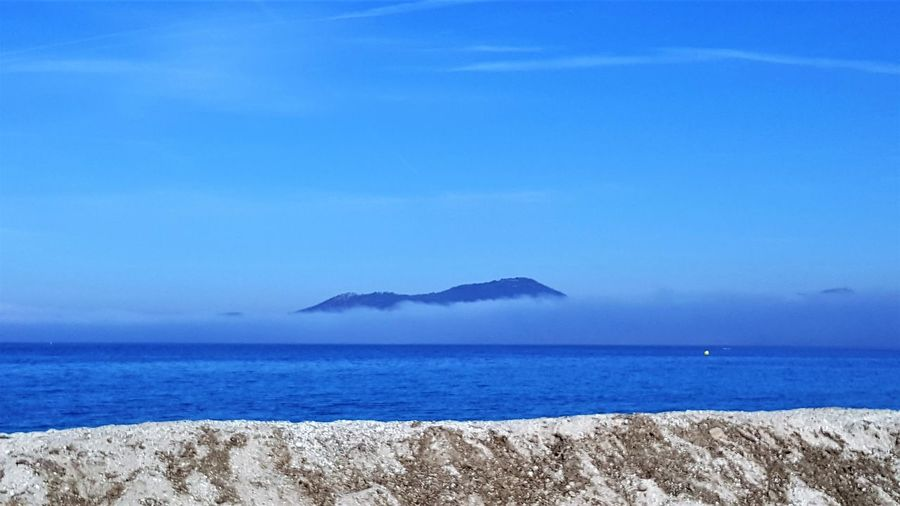 Fog On The Water France Hyères Provence Beach Beauty In Nature Blue Clear Sky Fog On The Sea Horizon Over Water Mountain Nature No People Outdoors Scenics Sea Sky Tranquil Scene Tranquility Water