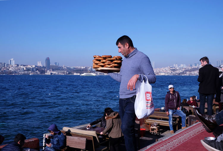 Street Vendors at the Bosporus At The Bosporus Istanbul Turkey Simit Seller Simitçi Street Vendor Street Vendors Sunday Afternoon Chill Turkish Bagel Mechant Waiting Game