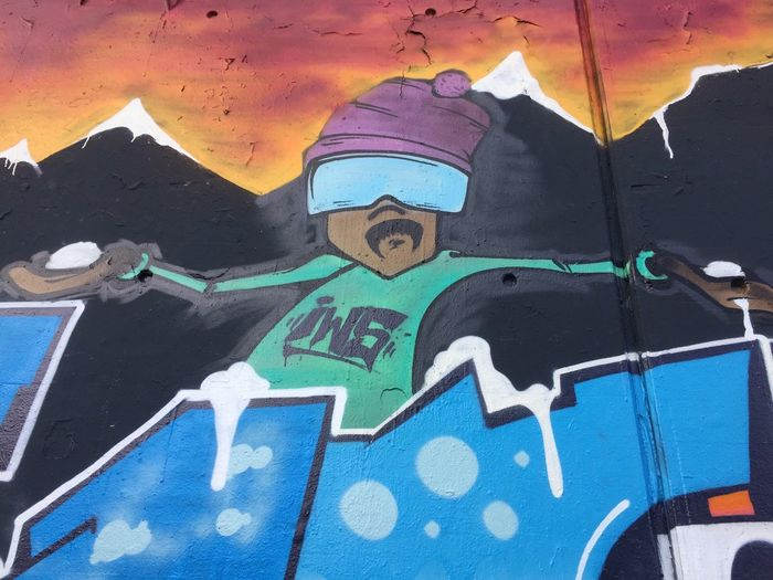 Hip Hop Graffiti Outdoors No People Day Communication Multi Colored Architecture Close-up Colorful Character Yo! Cool Streetart