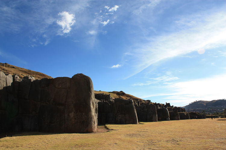 Sacsayhuaman Beauty In Nature Day Fortress Wall Landscape Nature Outdoors Sky Tranquility
