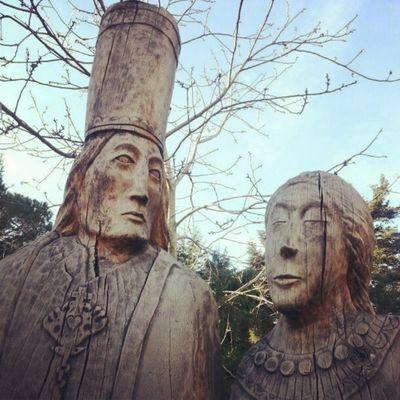 Woodensculpture Adampol Polonezkoy Istanbul turkey sculpture