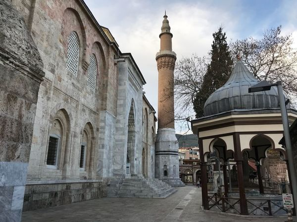 Travel Destinations Bursa / Turkey Grand Mosque Ulucamii Mosque Architecture Religion History Spirituality Place Of Worship Built Structure Building Exterior No People Outdoors Tree Sky Day