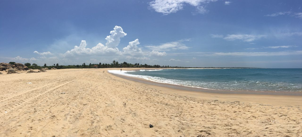Sri Lanka beach Beach Sky Sand Sea Cloud - Sky Nature Scenics Beauty In Nature Tranquil Scene Tranquility Blue Outdoors Day Horizon Over Water Water No People