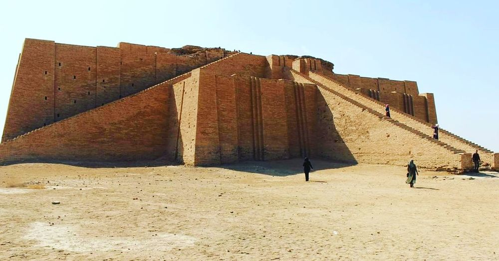 Sunlight Sand Outdoors Day Architecture Ancient Ancient Civilization Ur Sumerian Ziggurat History Old Mycountry Iraq