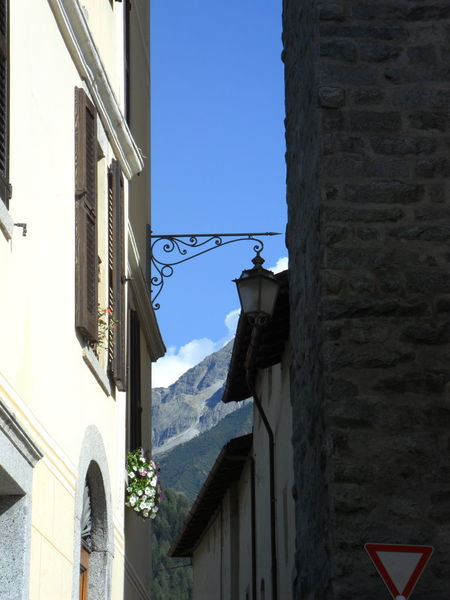 Architecture Low Angle View Mountain Old Old Buildings Ponte Di Legno