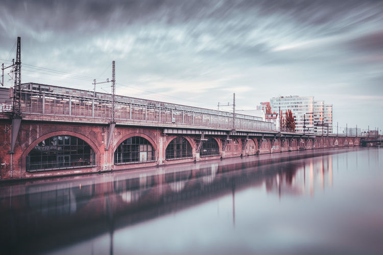 Bhf Jannowitzbrücke | Berlin, Germany 2015 Architectural Detail Architecture Architecture Berlin Berlin City Berlin City Life Bridge - Man Made Structure City City Life Cloud Cloud - Sky Day Engineering Fineart Germany Jannowitzbrücke Long Exposure Outdoors Overcast Reflection Reflections In The Water Sky Train Station Travel Destinations Water