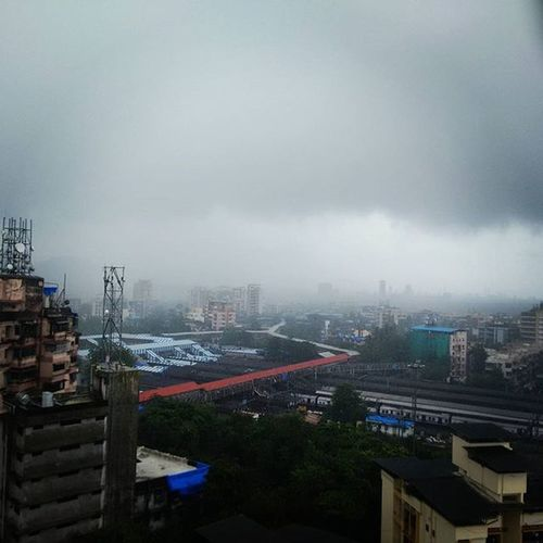 Thane stnClouds Rains and here i come to capture the best shot ..