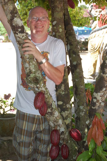 Me with some cocoa pods Cocoa Cultures Food Malaysia Natural Pods Tumpat Wild
