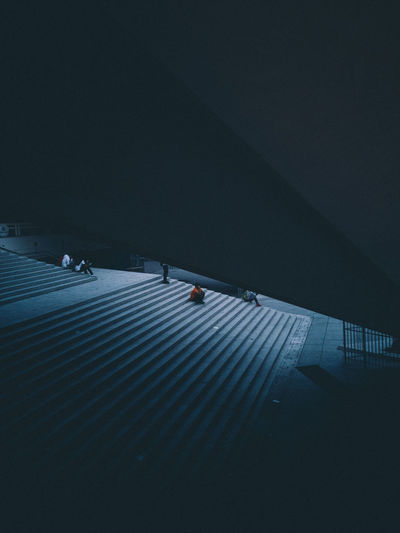 Berlin Berliner Luft HUAWEI After Dark Finalist Stairs Architecture Berliner Ansichten Building Exterior Built Structure City Dark Footpath Group Of People Incidental People Real People Staircase Unrecognizable Person